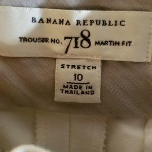 Banana Republic Pants - Banana Rep White Martin Trousers